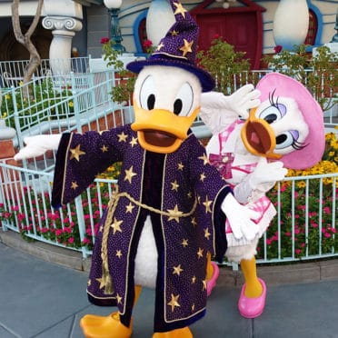 Donald and Daisy at Disneyland Halloween Party 2015