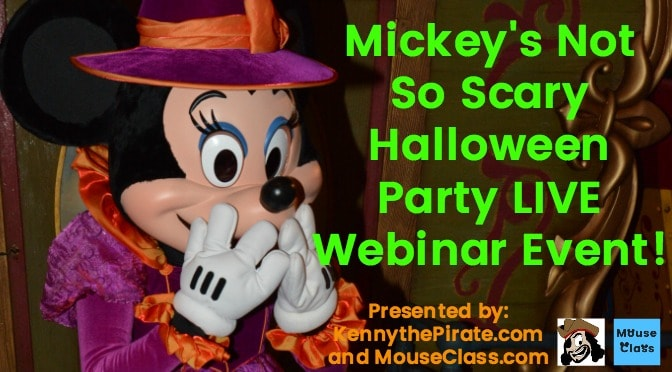 Mickey's Not So Scary Halloween Party planning webinar coming soon!
