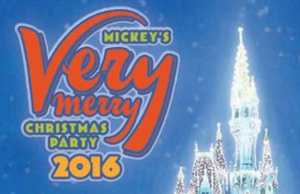 2016 Mickey's Very Merry Christmas Party Map