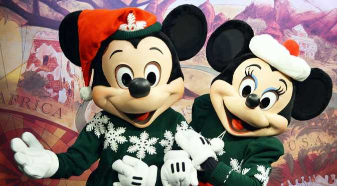 5 Disney character meet and greets in Christmas costumes at Disney's Animal Kingdom