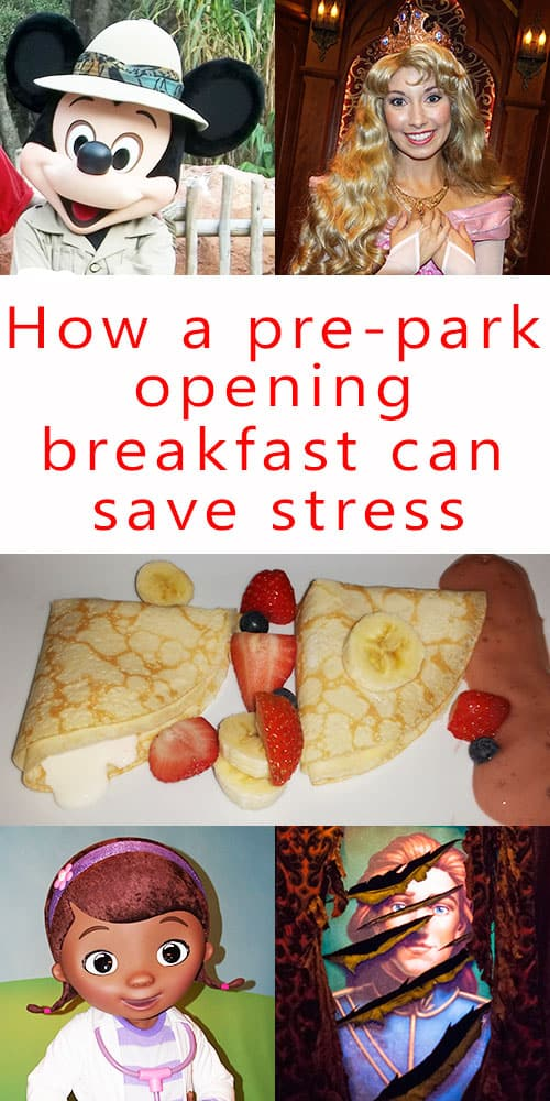 How a pre park opening breakfast can save you time and stress