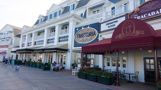 Bon Voyage Adventure Breakfast at Trattoria al Forno on Disney World Boardwalk