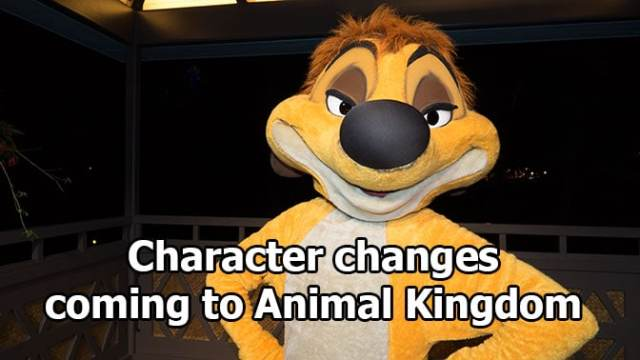 Character changes coming to Animal Kingdom