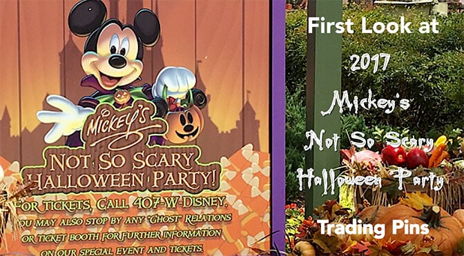 first look at 2017 mickeys not so scary halloween party trading pins