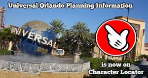 Universal Orlando Planning Information is Now on Character Locator