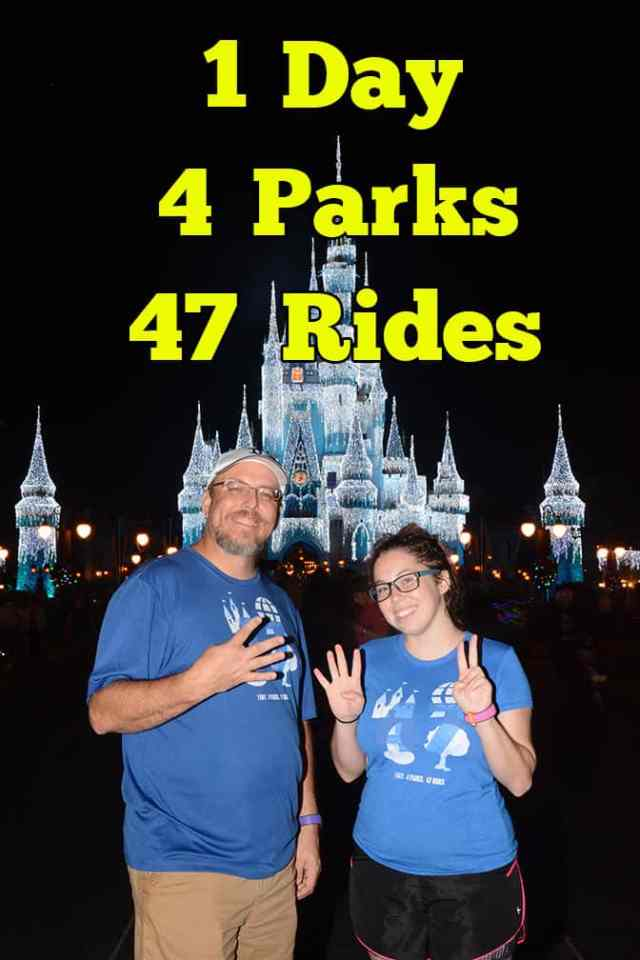 How a Father and Daugther rode every ride in Walt Disney World in a Single Day with Parkeology WDW47 Challenge