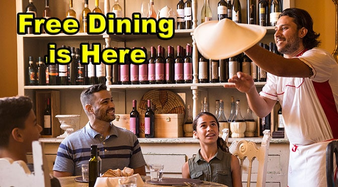 Free Dining for Fall 2019 is here!