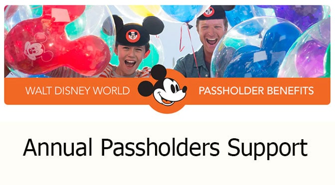 Disney World Annual Passholders receive online, phone and email support services