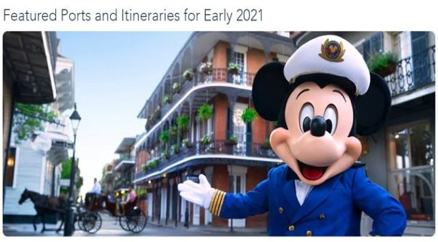 Disney Cruise Line Announces Winter 2021 Itineraries Today