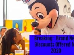 BREAKING: New 2020 Walt Disney World Discounts Offered