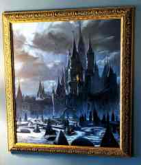 Painting of castle in bar area