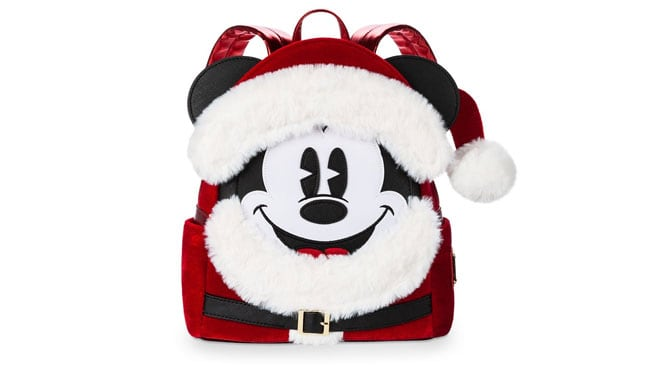 HoHoHo Santa Mickey Loungefly Backpack Now Available!