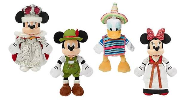 New World Showcase Nations Mickey and Friends Plush Collection