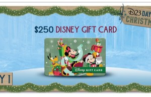 D23 Days of Christmas Sweepstakes: $250 Disney Gift Card up for Grabs!