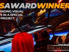 Star Wars: Rise of the Resistance Wins VES award!