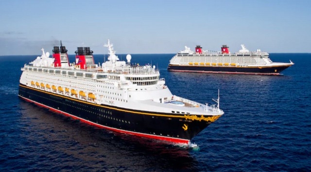 Three Disney Cruise Ships in Port Together