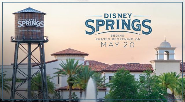 Official: Disney Springs Shares Guide to Reopening Procedures, Anyone Over the Age of 3 Must Wear Mask