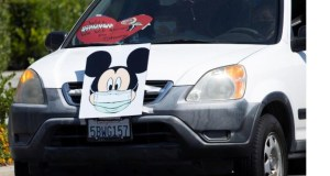 Disneyland Workers Protest Reopening with Caravan