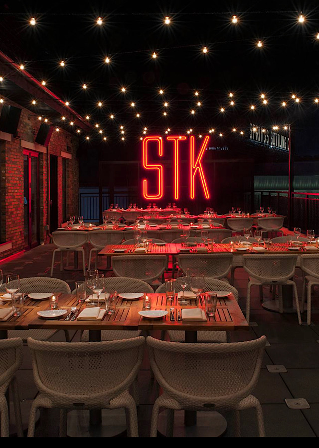 STK Steakhouse burger