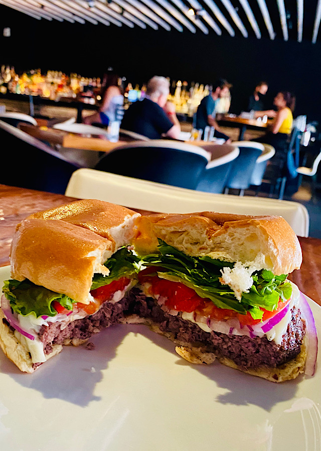 STK Steakhouse burger