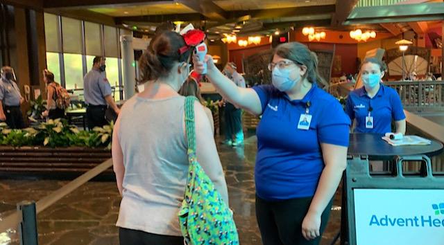 Temperature Screening Procedures at Walt Disney World
