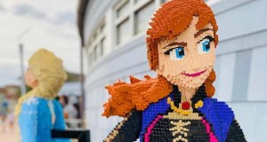 Check Out the New Star Wars and Frozen Lego Sculptures in Disney Springs!