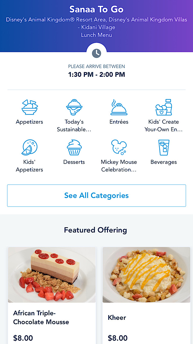 disney table service mobile order