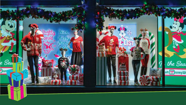 Holiday Window Displays at Walt Disney World Resort