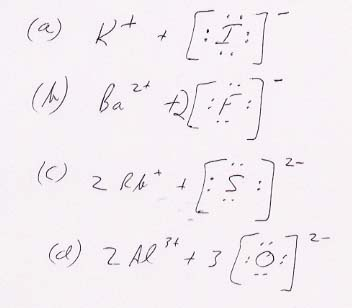 Answers to selected problems, Chapter 9