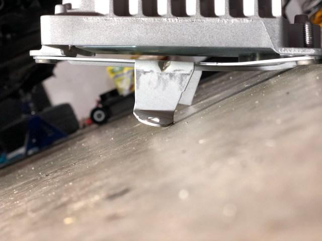 Amp with bracket bent