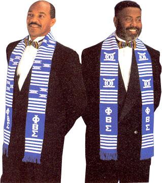 Phi Beta Sigma (ΦΒΣ) kente stole