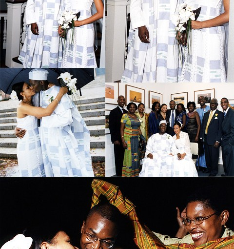 kente cloth wedding