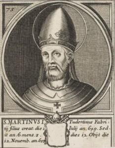 H. Martinus I, paus