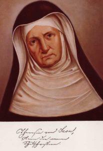 www.heiligen-3s.nl/heiligen/05/09/05-09-1879-Theresia-Gerhardinger(Karoline).php +++ Schilderij. Duitsland, München am Anger (?).