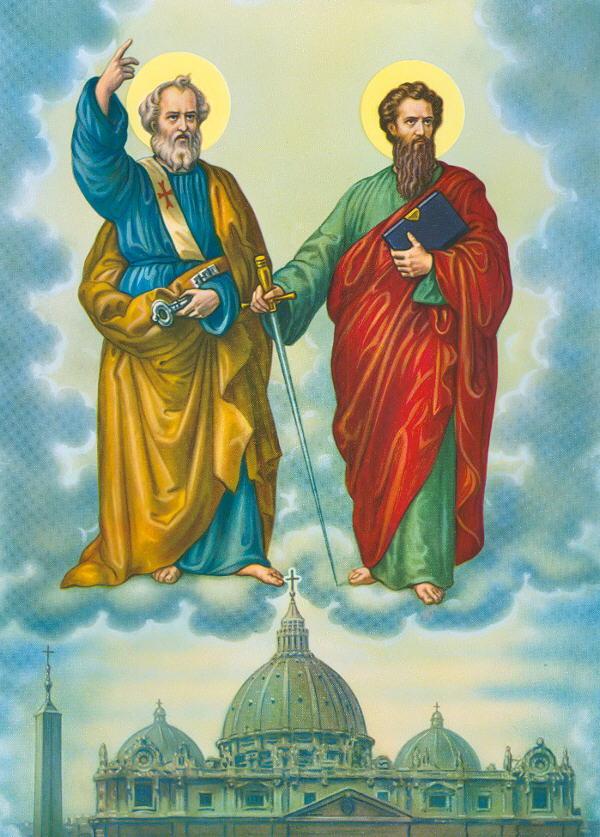 Afbeeldingsresultaat voor Heilige apostel Petrus - Heilige Apostel Paulus - 29 juni