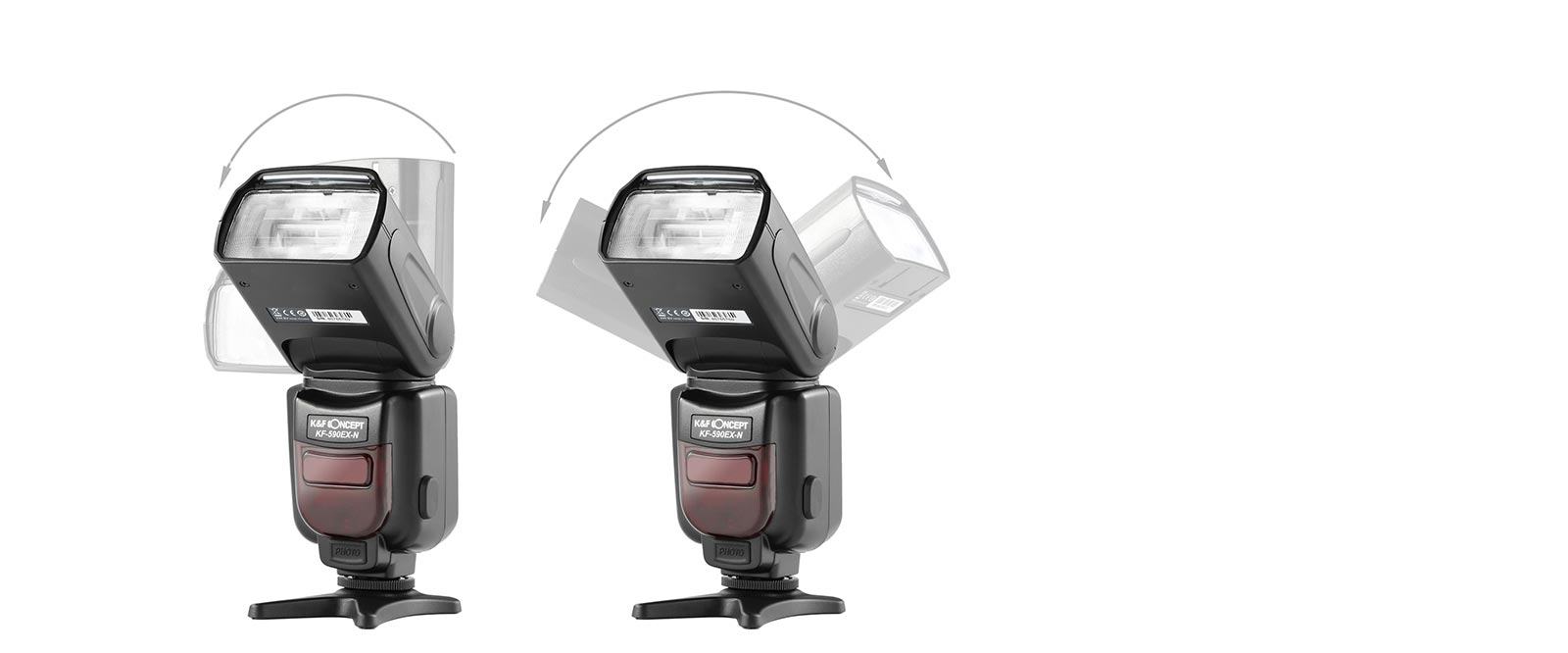 K&F Concept KF590N I-TTL Flash para Nikon GN56 Eslave