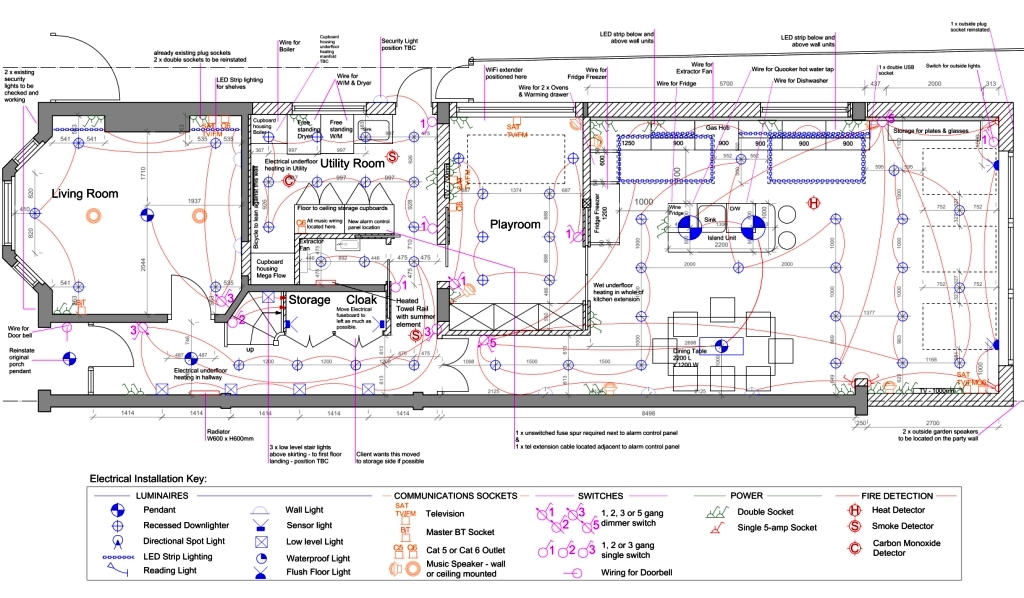 Basic Hvac Electric Wiring Electrical And Lighting Plans 187 Kent Griffiths Design