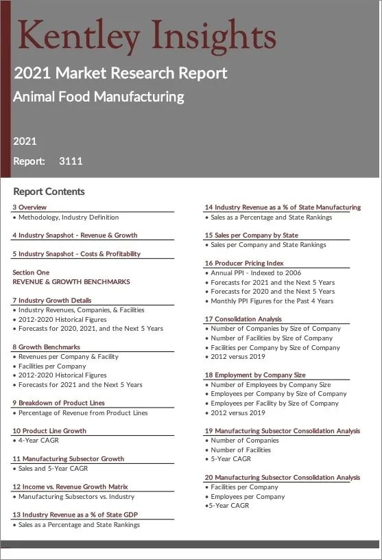 Animal-Food-Manufacturing Report