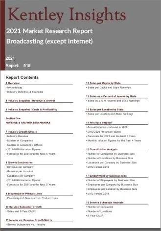 Broadcasting except Internet Report