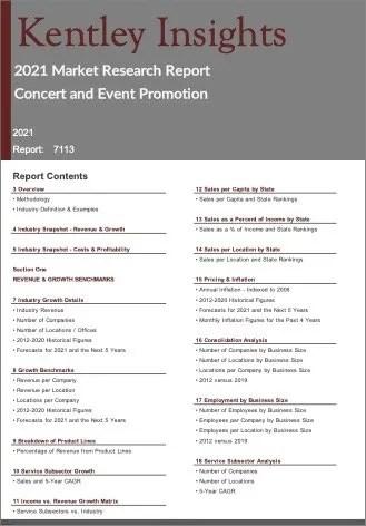 Concert Event Promotion Report