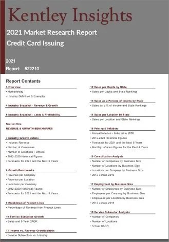 Credit Card Issuing Report