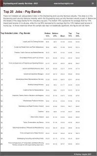 Drycleaning Laundry Services Benchmarks