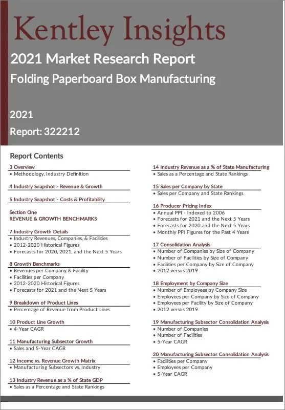 Folding-Paperboard-Box-Manufacturing Report