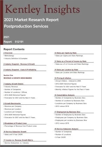 Postproduction Services Report