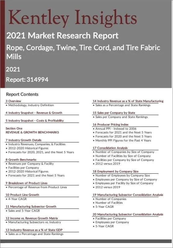 Rope-Cordage-Twine-Tire-Cord-Tire-Fabric-Mills Report