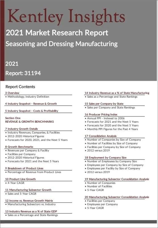 Seasoning-Dressing-Manufacturing Report