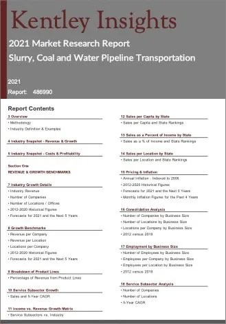 Slurry Coal Water Pipeline Transportation Report