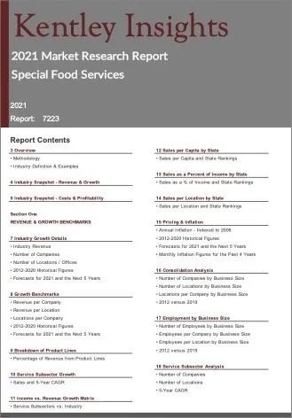 Special Food Services Report