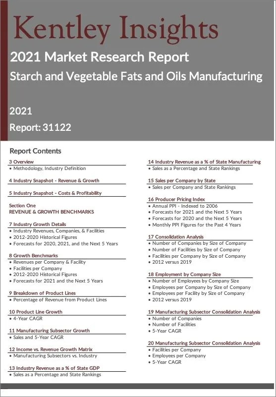 Starch-Vegetable-Fats-Oils-Manufacturing Report