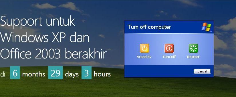 Dukungan untuk Windows XP dan Office 2003 Akan Berakhir